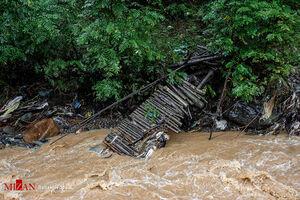 عکس/ رانش زمین و سیلاب در روستاهای شفت