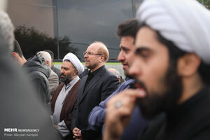 عکس/ تشییع پیکر حجت الاسلام آژینی
