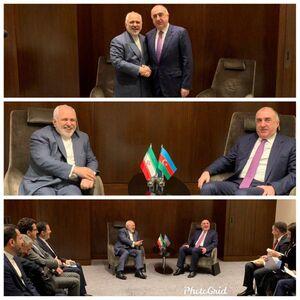 عکس/ دیدار ظریف با وزیر امور خارجه آذربایجان