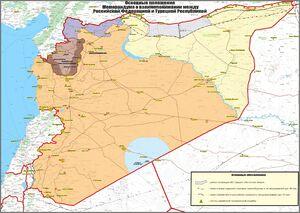 ارتش سوریه در سراسر نوار مرزی با ترکیه مستقر میشود + نقشه