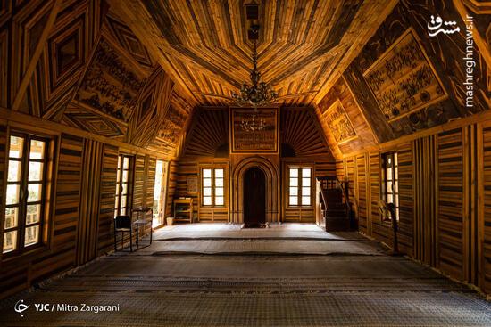 عکس/ مسجد چوبی