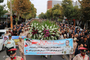 عکس/ تشیع پیکر شهید مرزبان