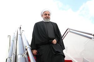 عکس/ استقبال از روحانی در فرودگاه باکو