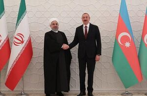 روحانی با رئیس جمهوری آذربایجان