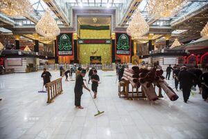 عکس/ شستشوی صحن حرم حضرت ابالفضل(ع)