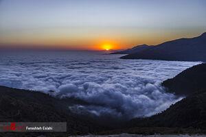 عکس/ «فیلبند» بر فراز ابرها