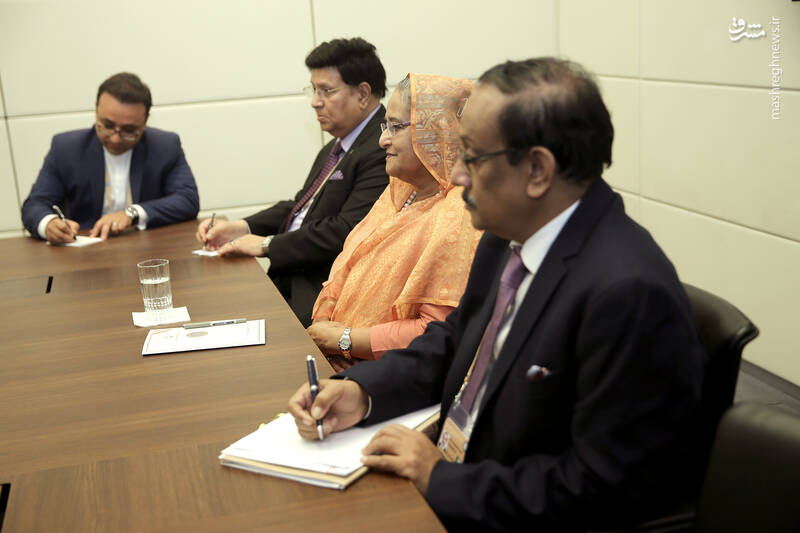 روحانی در دیدار نخست وزیر بنگلادش