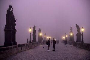 عکس/ مه صبحگاهی دیدنی