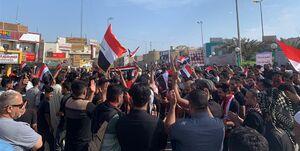 فیلم/ شعارهای مردم عراق علیه آمریکا و رژیم صهیونیستی