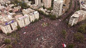 تظاهرات یک میلیونی در سانتیاگو