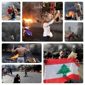 کپیبرداری ناشیانه براندازان در لبنان و عراق +عکس