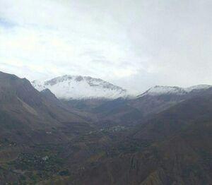 عکس/ بارش نخستین برف پاییزی در آمل