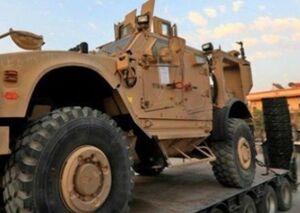 یک کاروان نظامی آمریکا از عراق وارد سوریه شد +فیلم