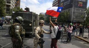 فیلم/ ۱۸ کشته در تظاهرات گسترده مردم شیلی علیه دولت