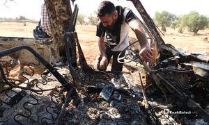 فیلم/ خانه ابوبکربغدادی که گفته میشود با هواپیمای جنگی ویران شد