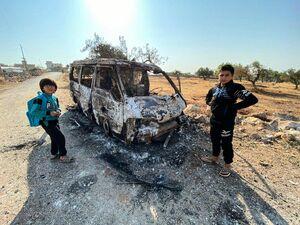 اولین تصاویر از محل بمباران کاروان حامل ابوبکر بغدادی
