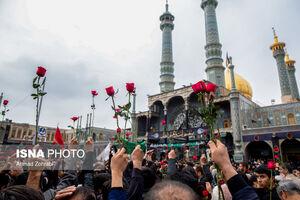 عکس/ حرم حضرت معصومه(س)مملو ازدستههای عزاداری