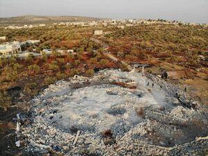 تصاویر هوایی از محل کشته شدن ابوبکر بغدادی