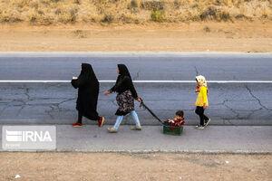 عکس/ پای پیاده تا حرم سلطان