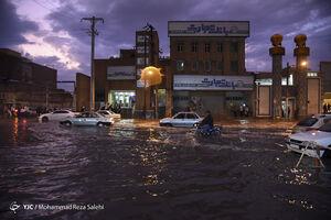 عکس/ شب طوفانی اهواز