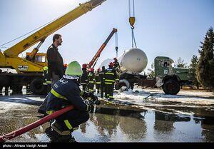 ۲ تانکر حمل سوخت در شیراز واژگون شد