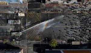 تصویر هوایی منتفاوت از تظاهرات در شیلی