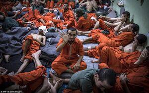 تصاویر زندانی های داعش در سوریه