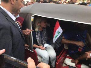 نماینده سازمان ملل در میان معترضان عراقی