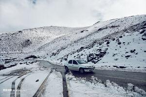 عکس/ نخستین برف پاییزی در همدان
