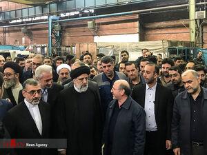 عکس/ بازدید حجتالاسلام رئیسی از ماشینسازی تبریز