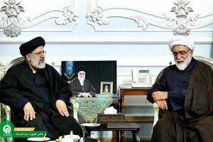 عکس/ دیدار رئیس مجلس خبرگان و رئیس قوه قضائیه با تولیت آستان قدس