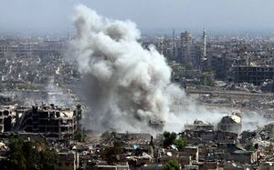 فیلم منتسب به لحظه انفجار در عفرین سوریه