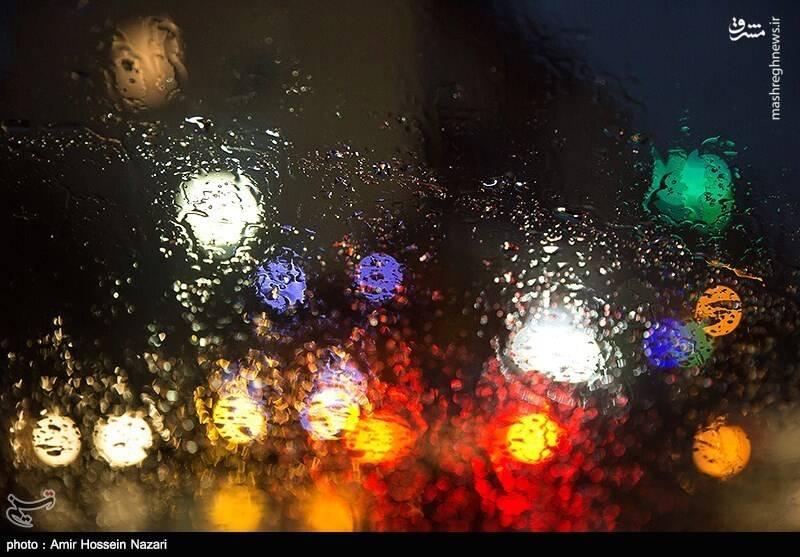 بارش باران پاییزی در قزوین