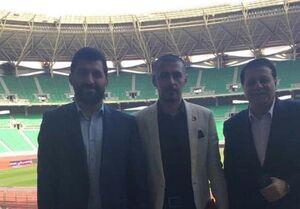عکس/ بازدید ساکت از ورزشگاه بصره