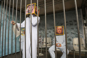 عکس/ بن سلمان و ترامپ در زندان