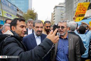 عکس/ شخصیتهای حاضر در راهپیمایی ۱۳ آبان امسال