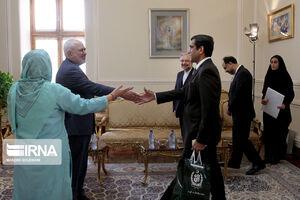 عکس/ دیدار خداحافظی سفیر پاکستان با ظریف
