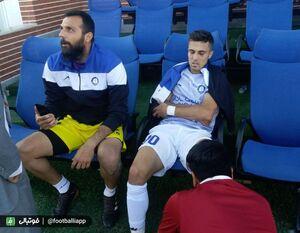 عکس/ عیادت مربی استقلال از بازیکن گل گهر