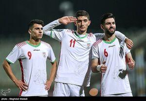 دیدار تیمهای فوتبال جوانان ایران و قرقیزستان