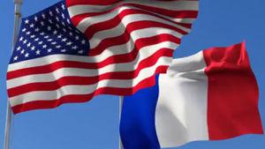 پرچم نمایه آمریکا و فرانسه