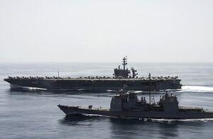 کشتی های انگلیس در تنگه هرمز