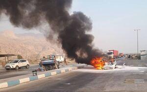۶ نفر زنده زنده در آتش تصادف سوختند