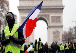 بازداشت ۱۰ هزار نفر از آغاز جنبش جلیقه زردها در فرانسه