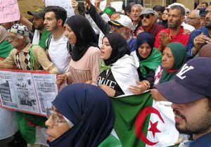 تظاهرات گسترده در الجزایر زیر باران شدید