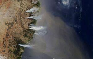 تصویر ماهواره ای از آتش سوزی در استرالیا