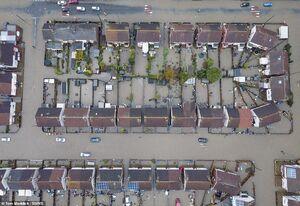 تصاویر هوایی جدید از سیل در انگلیس