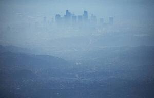 عکس/ آلودگی شدید هوا در لس آنجلس