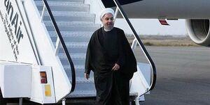 فیلم/ صحبتهای روحانی در فرودگاه یزد