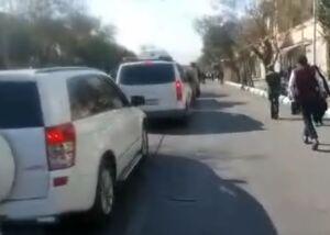 فیلم/ کاروان دولت در خیابان منتهی به محل سخنرانی روحانی