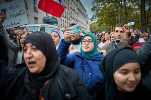عکس/ تظاهرات مسلمانان در پاریس